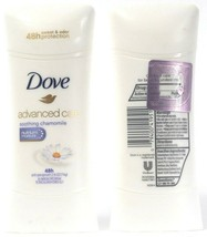 2 Ct Dove Advanced Care Soothing Chamomile Lasts 48 Hours Anti Perspirant 2.6Oz  - $21.99