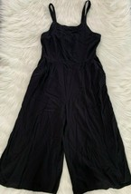 Xhilaration Women's Overall Jumper Rompers Black Capri - Size L (10/12) - $20.79