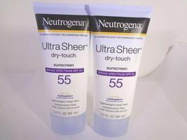Neutrogena Ultra Sheer Dry-Touch Sunscreen SPF 55 2 PACK 3.0 fl oz each - $12.87