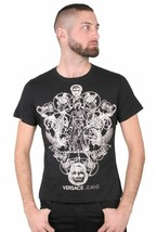 Versace Jeans Greek Gods Sphinx Mix Graphic Men's Fitted T-Shirt NWT image 2