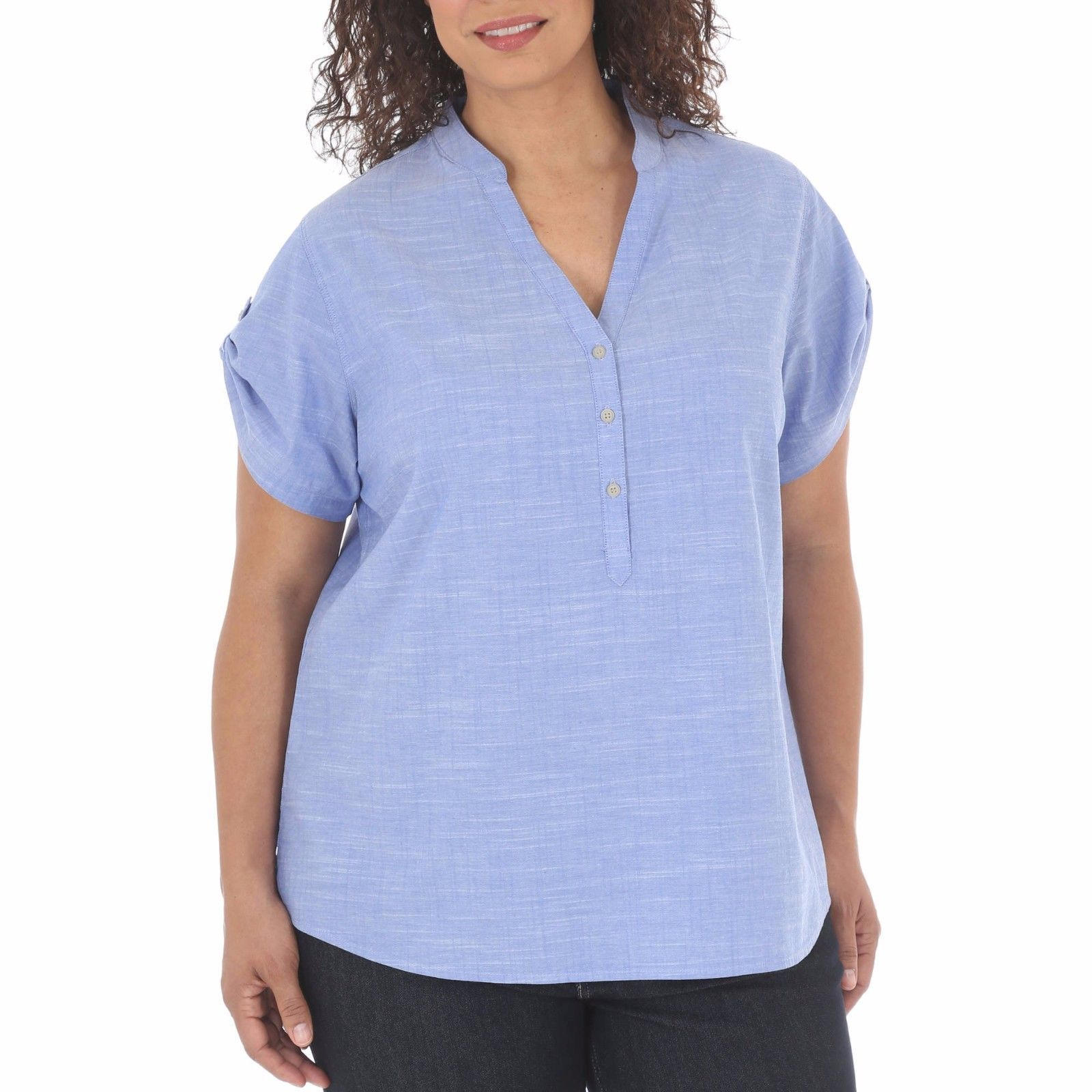 d45898efa72 Riders by Lee Women s Short Sleeve Roll Tab and 23 similar items. 57