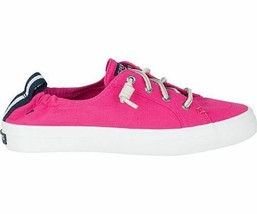Women's Sperry's Top Sider Crest Ebb Raspberry Canvas Sneakers Gym Shoes 9 US