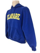 Champion Eco Fleece S Blue Delaware Blue Hens Fear The Bird Hoodie Sweat... - $28.71