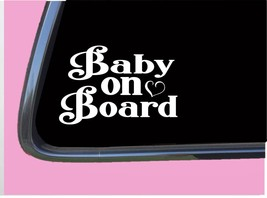 """Baby on Board TP035 vinyl 6"""" Decal Sticker pregnant baby on board mom mo... - $3.99"""