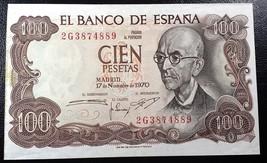 SPAIN: 1970, 100 Cien Pesetas, P-152 ** aUNC **  España ◢ FREE COMBINED ... - $5.03
