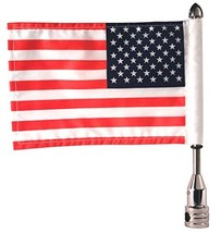 Pro Pad Fixed 1/2-inch Tour Pack Flag Mount with 6 X 9-inch Flag for Harley - $51.69