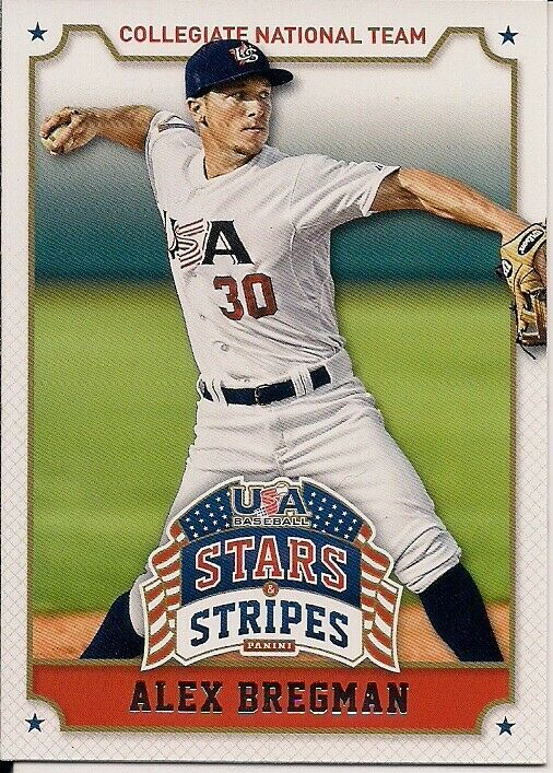 2015 Panini USA Baseball Stars and Stripes #6 Alex Bregman, MINT - $2.00