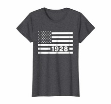 Uncle Shirts -   America Flag 1928 90th Year Old Birthday Shirt Gift Wowen - $19.95+