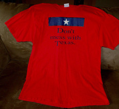 Don't Mess with Texas Red Pre Shrunk 100% Cotton S/S Men's T Shirt Size XL - $18.80