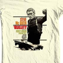 Bullitt T-shirt Steve McQueen vintage 70's movie retro cotton graphic tee Bullet image 1