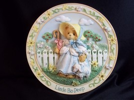 Cherished Teddies 3D plate Little Bo Peep Nursery Rhymes collection 1996 - $10.63