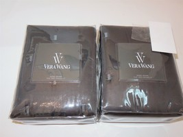 2 Vera Wang LUSTER Charcoal Grey King Quilted Shams NEW $330 - $116.35
