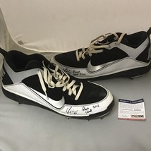 Autographed/Signed YONDER ALONSO 2012 Game Used Pair Cleats Shoes PSA/DNA COA image 1