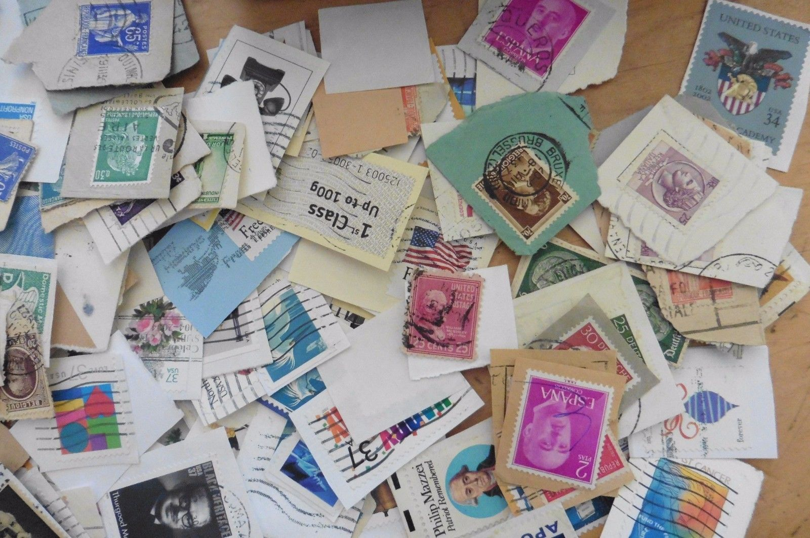 Used Stamps Apx 1500+ mostly USA & Great Britain stamps + few international 10oz