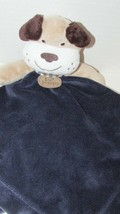 Carters navy blue Security Blanket My 1st first Puppy Tan Brown dog ratt... - $9.89