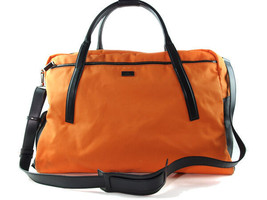 Auth GUCCI Orange Canvas, Leather Sports, Traveling, Boston Bag GB8458L / Large - $265.00