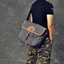 Sale, Canvas With Leather Messenger Bag, Large Capacity Shoulder Bag, Laptop Bag image 2
