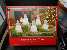 "Hallmark ""Snowmen Bell Choir"" 2019 Music/Light Table Top Set of 5 NEW SE... - $110.63"