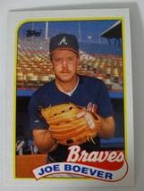 1989 Topps Joe Boever Atlanta Braves Wrong Back Error Baseball Card - $5.00