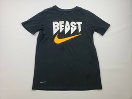 Nike Dri-fit Boys T-shirt Size L Black QE10 - $11.87