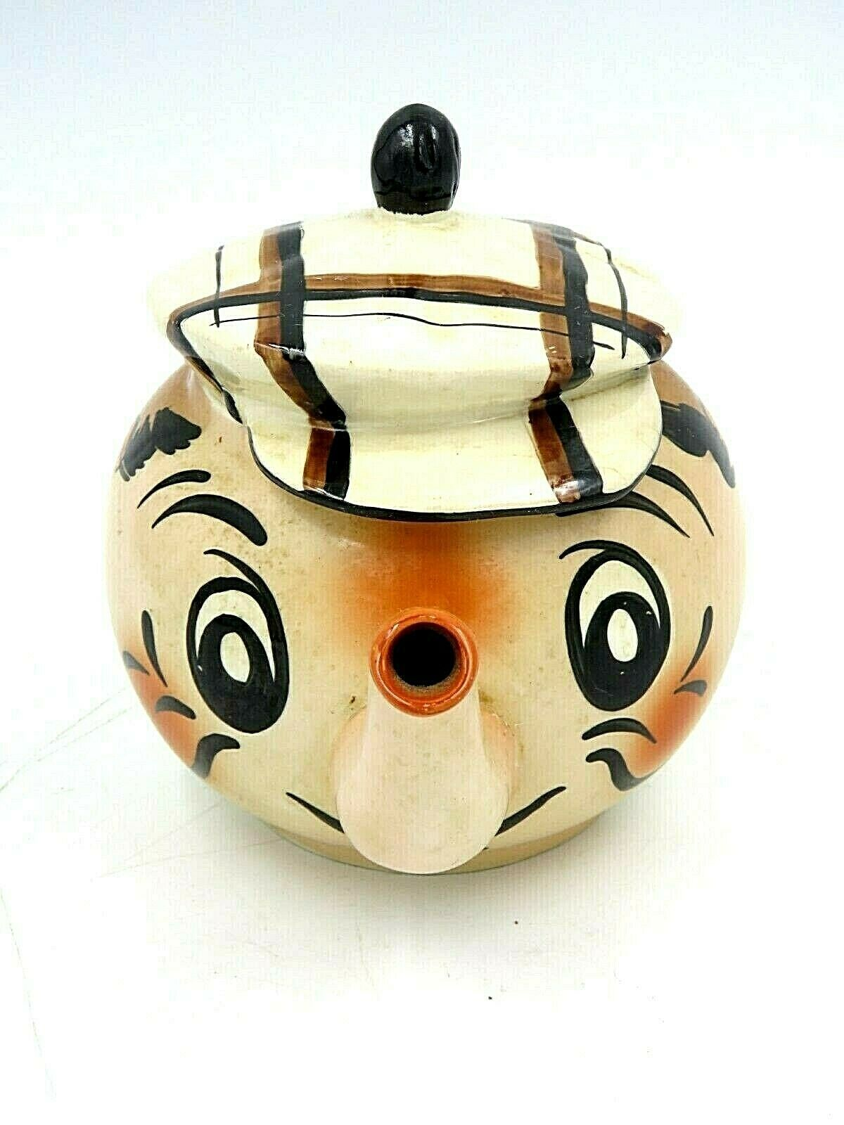Vintage Wade Hand Painted Ceramic Teapot - Andy Capp Golf Caddy - $14.80