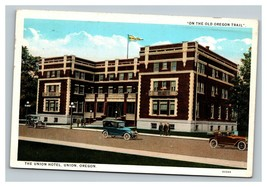 Vintage Mid Century Postcard The Union Hotel Union Oregon POSTED - $10.86
