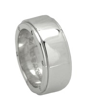 Authentic Unisex Tiffany & Co. 925 Sterling Silver Metropolis Wide Band ... - $204.95