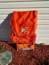 Vintage Nesco Comet Camper Backpack External Aluminum Frame Hiking ORANGE - $53.84