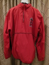 Angels MLB 2002 World Series Majestic Pull Over Jacket Size XL Los Angeles - $55.96