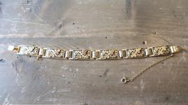 """Vintage Gold Tone Ornate Bracelet 7.25"""" x 10mm - $19.79"""