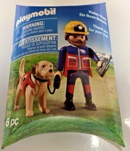2018 Playmobil Rescue Worker & Dog Promo - Exclusive NY Toy Fair 2018 - $9.89