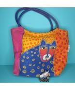 Laurel Burch Kitty Cat Feline Purse Shoulder Bag Handbag Wood Tag Tree Ornament - $49.95