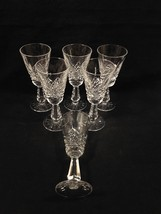 """Waterford KENMARE Set of 6 Sherry Goblet 5 3/8"""" Tall Clear Discontinued Crystal - $89.95"""