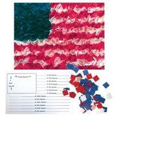 Hygloss American Flag Craft Tissue Paper Kit - DIY US Flag Decorations -... - $0.76