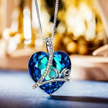 Swarovski Elements Crystal Round Halo Pendant Necklace Authentic 13 Styl... - £9.09 GBP