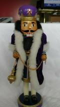 """Nutcracker King 12"""" wearing a purple robe w/ white faux fur edge - $17.00"""