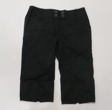Ann Taylor Loft Size 8 Black Capris Pants Marisa Linen Blend Cropped - $4.99
