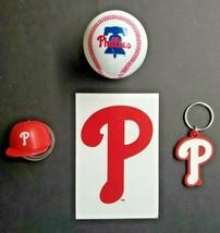 Philadelphia Phillies Baseball Vending Charms Lot 4 Ball, Helmet, Key Ch... - $16.99