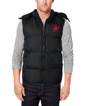 Beverly Hills Polo Club Men's Hooded Zip Athletic Sport Insulated Puffer Vest