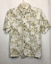 Joe Marlin XL Shirt Hawaiian Floral Short Sleeve Button Down Cotton A5 - $10.69