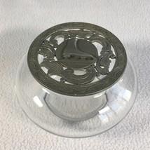 Ice-Skating Jar With Metal Lid Beautiful Carving Candy Jar Trinket Jar Cute - $29.99
