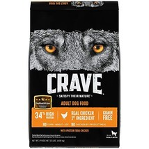 Crave Grain Free With Protein From Chicken Dry Adult Dog Food, 22 Pound Bag
