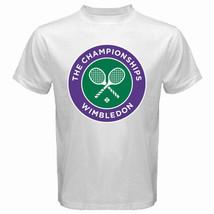 Wimbledon The Championship Tennis Grand Slam Men's White T-Shirt Size S-5XL - $16.99+