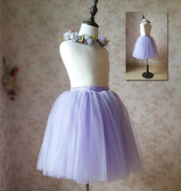Flower Girl Tutu Skirts Light Purple Girl Skirts for Wedding image 5
