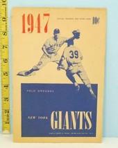1947 New York Giants Baseball Score Card v Cinc. Reds Unscored - $23.76