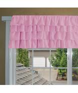Chiffon PINK Ruffle Layered Window Valance any size  - $29.99+