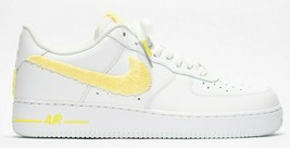 nike air force 1 white custom 'Yellow Terry Cloth' available in all sizes - $210.00