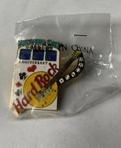 Hard Rock Cafe Atlantic City 2nd Anniversary 1998 Slot Machine Guitar Pin HRC - $13.99