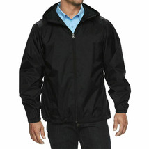 Men's Water Resistant Hooded Lightweight Windbreaker Rain Jacket New w/Defect