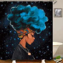 QCWN Afro Sexy Lady Shower Curtain Beautiful Girl Art Watercolor Woman P... - $21.32